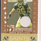 DEUCE MCALLISTER SAINTS 2007 TOPPS TX EXCLUSIVE JERSEY CARD