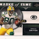 DONALD DRIVER PACKERS 2011 ABSOLUTE MARKS OF FAME INSERT