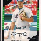 THOMAS DIAMOND RANGERS BOWMAN ROOKIE AUTO