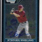 STEPHEN ENGLUND NATIONALS 2006 BOWMAN CHROME ROOKIE AUTO CARD