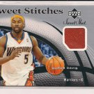 BARON DAVIS WARRIORS 2006-07 UPPER DECK SWEET STITCHES GAME USED CARD