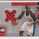 ELTON BRAND 2002-03 UPPER DECK FINITE ELEMENTS JERSEY CARD