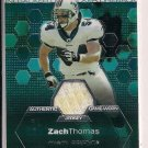 ZACH THOMAS DOLPHINS 2003 TOPPS FINEST JERSEY CARD