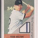 TODD HELTON 2002 BOWMAN HERITAGE RELICS JERSEY