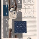KWAME BROWN WIZARDS 2002-03 SP GAME USED JERSEY CARD