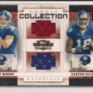RHETT BOMAR/HAKEEM NICKS GIANTS 2009 THREADS ROOKIE COLLECTION DUAL JERSEY #' 248/500!