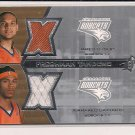 JERMARED DAVIDSON/JARED DUDLEY BOBCATS 2007-08 SPX FRESHMAN TANDEMS DUAL JSY