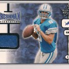 MIKE MCMAHON LIONS 2001 LEAF ROOKIES & STARS FRESHMAN ORIENTATION JERSEY