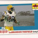 LABRANDON TOEFIELD LSU 2003 TOPPS ALL AMERICAN ROOKIE CARD