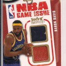 BARON DAVIS CLIPPERS 2008-09 HOT PROSPECTS DUAL JERSEY CARD #'D 075/149!