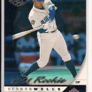VERNON WELLS BLUE JAYS 2001 DONRUSS ROOKIE CARD
