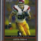 JUSTIN FARGAS RAIDERS 2003 TOPPS CHROME ROOKIE CARD