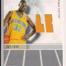 JULIAN WRIGHT HORNETS 2007-08 TOPPS LUXURY BOX ROOKIE JERSEY #'D 302/499!