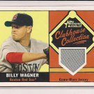 BILLY WAGNER RED SOX 2010 TOPPS HERITAGE CLUBHOUSE COLLECTION JERSEY