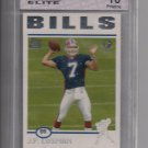 J.P. LOSMAN BILLS 2004 TOPPS ROOKIE GRADED GEM 10!