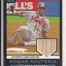 EDGAR RENTERIA BRAVES 2007 TOPPS 2006 HIGHLIGHTS BAT CARD