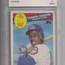 SHAWON DUNSTON CUBS 1985 TOPPS ROOKIE GRADED BCCG 9!