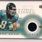KEENAN MCCARDELL JAGUARS 2001 UPPER DECK GAME WORN HELMET CARD