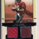 TRAVIS STEPHENS BUCCANEERS 2002 FLAIR DUAL JERSEY/BALL CARD