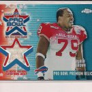 RUBEN BROWN BILLS 2002 TOPPS CHROME PRO BOWL REFRACTOR JERSEY