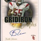 KEITH RIVERS TROJANS 2008 PRESSPASS GRIDIRON GRAPHS AUTO