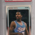 KENNY SMITH KINGS 1988 FLEER ROOKIE CARD GRADED PSA 8!