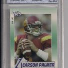 CARSON PALMER BENGALS 2002 ROOKIE REVIEW GRADED GEM 10!