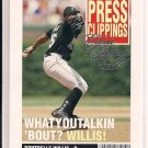 DONTRELLE WILLIS MARLINS 2004 FLEER PRESS CLIPPINGS
