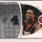 CHRIS WEBBER 76ERS 2006-07 FLEER EX BEHIND THE NUMBERS JERSEY #'D 131/199!