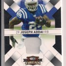 JOSEPH ADDAI COLTS 2009 THREADS JERSEY #'D 25/50!