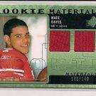 NATE DAVIS 49ER'S 2009 SPX ROOKIE MATERIALS DUAL JERSEY #148/149!