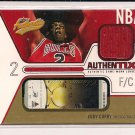 EDDY CURRY BULLS 2003-04 FLEER AUTHENTIX JERSEY