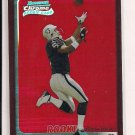 TEYO JOHNSON RAIDERS 2003 BOWMAN CHROME RED REFRACTOR
