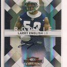 LARRY ENGLISH CHARGERS 2009 DONRUSS THREADS ROOKIE AUTO
