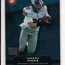 HAKEEM NICKS GIANTS 2011 TOPPSTOWN CARD