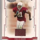 ANQUAN BOLDING CARDINALS 2005 THROWBACK THREADS BALL CARD