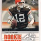 LUKE MCCOWN BROWNS 2005 UPPER DECK ROOKIE DEBUT