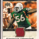 SANTONIO THOMAS 2005 UD UNIVERSITY OF MIAMI SATURDAY SWATCHES JERSEY