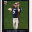 TRENT EDWARDS BILLS 2007 TOPPS CHROME RC