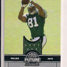 DUSTIN KELLER JETS 2008 BOWMAN FABRIC OF THE FUTURE RC JERSEY