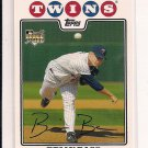 BRIAN BASS TWINS 2008 TOPPS RC