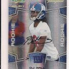 DJ HALL GIANTS 2008 SCORE INSCRIPTIONS RC AUTO