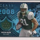 DUSTIN KELLER JETS 2008 UD ICONS CLASS OF 2008 JERSEY