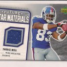 SINORICE MOSS GIANTS 2006 UD FUTURE STAR MATERIALS JERSEY