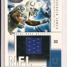 EDGERRIN JAMES COLTS 2004 FLEER HOT MATERIALS JERSEY