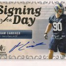 ADAM CARRIKER RAMS 2007 SPX ROOKIE SIGNING DAY AUTO