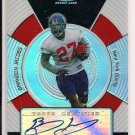 BRANDON JACOBS GIANTS 2005 TOPPS FINEST RC AUTO REFRACTOR #'D 061/399!