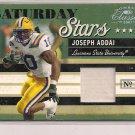 JOSEPH ADDAI LSU 2007 DONRUSS CLASSICS SATURDAY STARS JERSEY