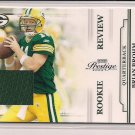 BRIAN BROHM PACKERS 2009 PLAYOFF PRESTIGE ROOKIE JERSEY