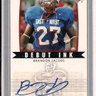 BRANDON JACOBS GIANTS 2005 UD DEBUT INC RC AUTO